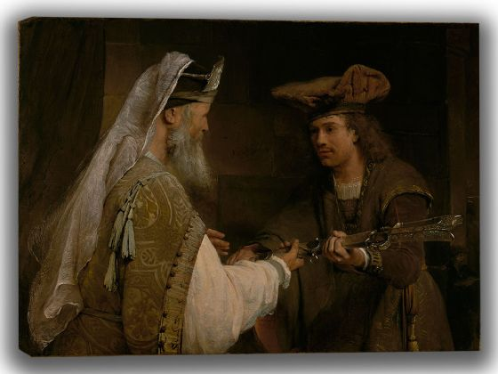 Gelder, Aert de: Ahimelech Giving the Sword of Goliath to David. Fine Art Canvas. Sizes: A4/A3/A2/A1 (004021)